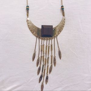 Metal plated boho necklace